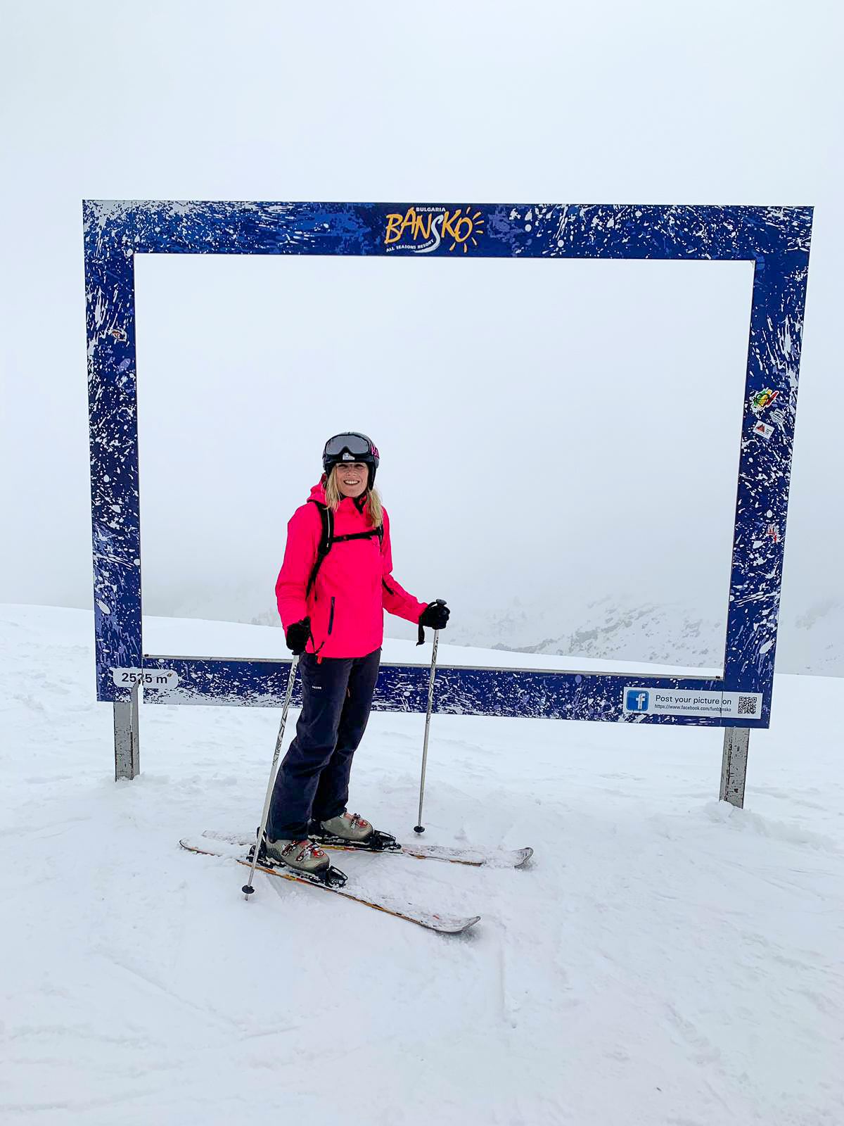 Nikki from The Smiling Food Journal at the top of the Pirin Mountains